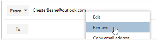 A screenshot of the Remove option